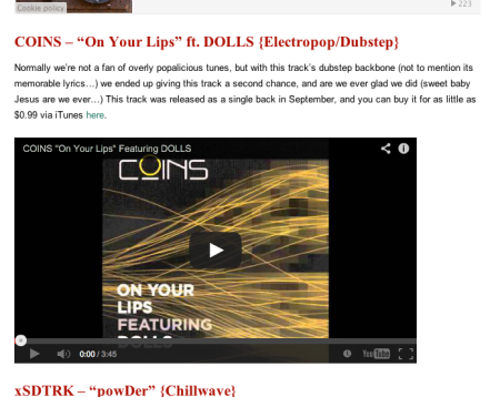 DOLLS on Your Lips Best Indie Electro 2013