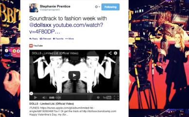Channel 5's Stephanie Prentice talks DOLLS and London Fashion Week