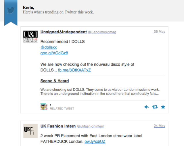 DOLLS Trending on Twitter, Thank You Very Much, Unsigned & Independent Magazine